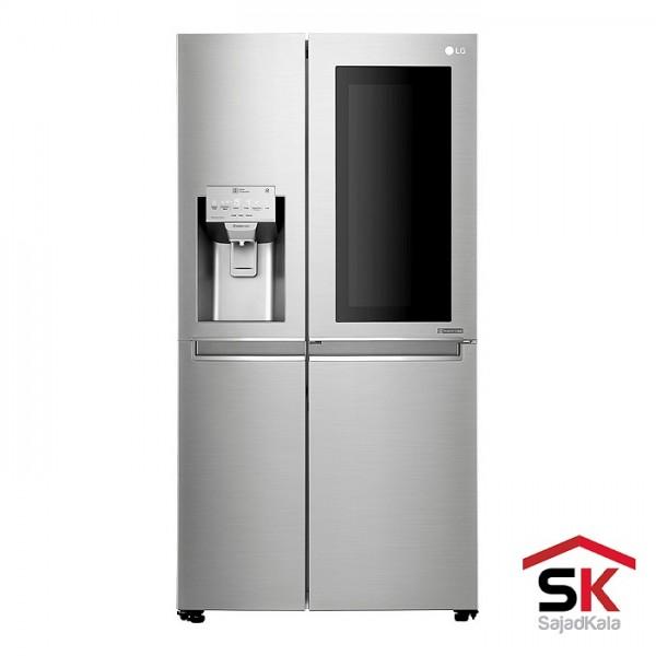 یخچال فریزر ساید بای ساید سری InstaView الجی مدل SXI555NS